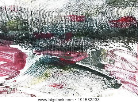 Hand-drawn abstract watercolor background. Used colors: White Snow Charleston green Outer Space Onyx Ghost white Baby powder Bright gray Dark charcoal Feldgrau