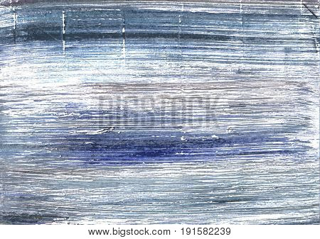 Hand-drawn abstract watercolor background. Used colors: White Shadow blue Wild blue yonder Slate gray Cool grey Azureish white Pewter Blue Cadet grey Ghost white