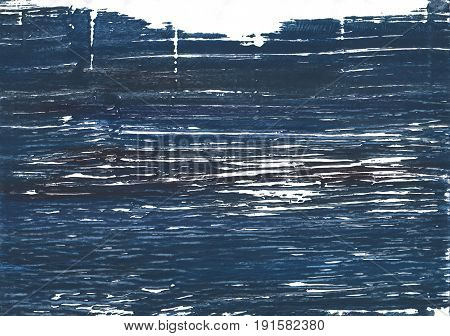 Hand-drawn abstract watercolor background. Used colors: Japanese indigo Charcoal White Metallic blue Gunmetal Independence Dark slate gray Indigo American blue