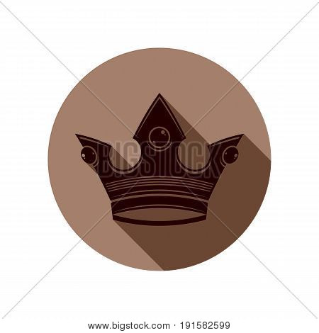 3d vintage crown luxury coronet illustration. Classic imperial and VIP symbol for use in advertising and design.