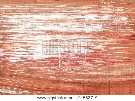 Hand-drawn abstract watercolor background. Used colors: Copper red Copper White Middle Red Dark salmon Antique brass Tumbleweed Snow Brown Sugar Terra cotta