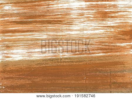 Hand-drawn abstract watercolor background. Used colors: Coconut Metallic bronze Deer Persian orange Raw Sienna White Copper Brown Yellow Fawn Peru Liver