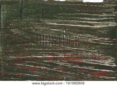 Hand-drawn abstract watercolor background. Used colors: Kombu green Rifle green Black olive Cola Dark lava Dark charcoal Ebony Umber Gray-asparagus Olive Drab #7