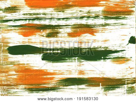 Hand-drawn abstract watercolor background. Used colors: White Cal Poly green Lotion Milk Ivory Army green Brass Baby powder Pumpkin Tigers eye Old moss green