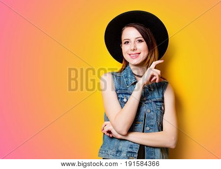Young Woman Holding Imagination Camera