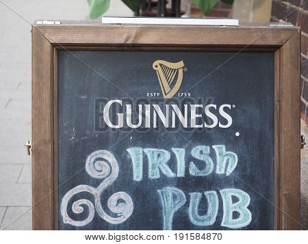Guinness Irish Pub Sign In Hamburg