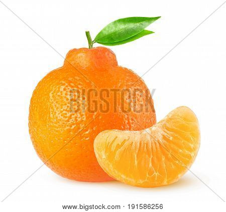 Isolated Clementine Citrus Fruit