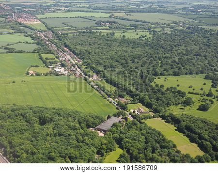 Aerial View Of Takeley And Hatfield Forest