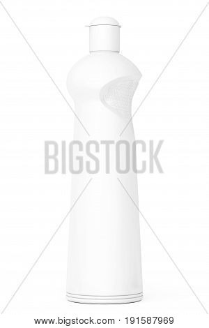 White Plastic Bottle for Liquid Detergent on a white background. 3d Rendering.
