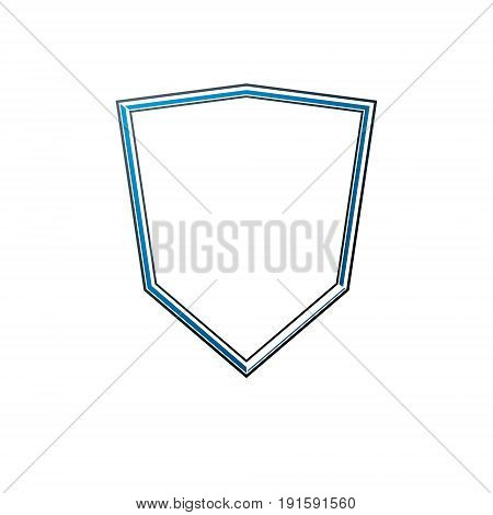 Blank heraldic frame with copy-space vector vintage protection shield emblem.