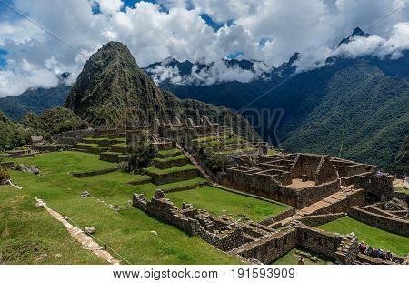 Archeological site of Machu Picchu in Peru