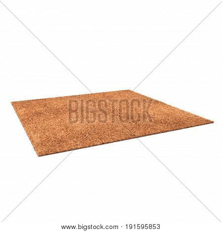 Rug isolated on white background. 3D illustration, clipping path