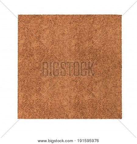Rug isolated on white background. Top view. 3D illustration, clipping path