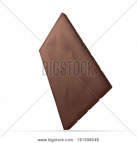 Chocolate Bar on white background. 3D illustration, clipping path