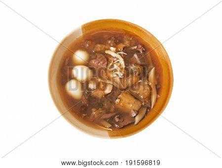 Fish Maw Soup Isolated on White Background