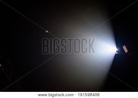 Ray Of Light On A Black Background