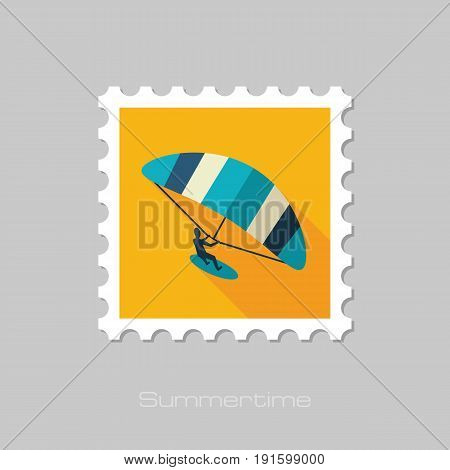 Kite boarding. Kitesurfing vector stamp. Beach. Summer. Summertime. Holiday. Vacation eps 10
