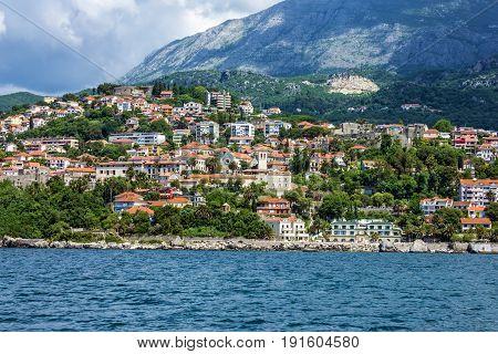 Kotor bay sea view, summer landscape, Montenegro