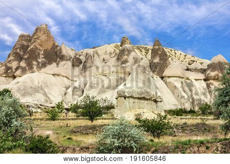Volcanic mountains, Cappadocia, Anatolia, Turkey. Goreme national park.