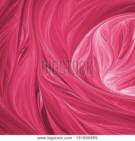 Abstract Swirly Crimson Shapes. Fantasy Fractal Background. Psychedelic Digital Art. 3D Rendering.