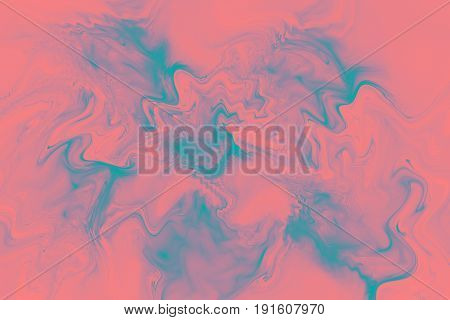 Abstract Marble Texture. Fantasy Fractal Background In Blue And Light Red Colors. Digital Art. 3D Re