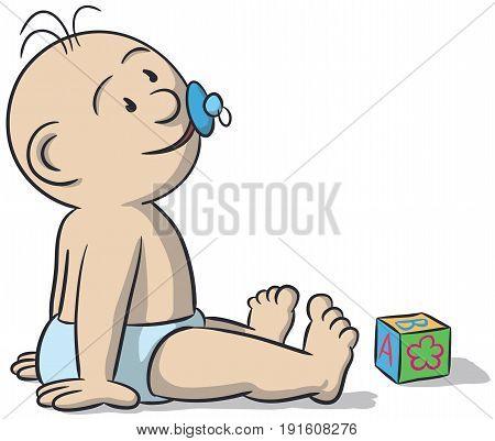 Illustration Of Newborn Baby