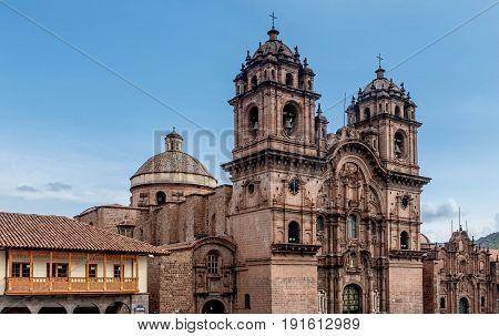 La Compania de Jesus ( Company of Jesus ) Church in Cusco Peru