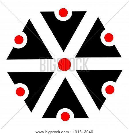 Slavic god Perun - icon , symbols of Perun , Slavic amulets - vector