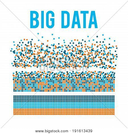 Big data visualization. Machine learning algorithms. Analysis of information. Visual data infographics design. Science and technology vector background.