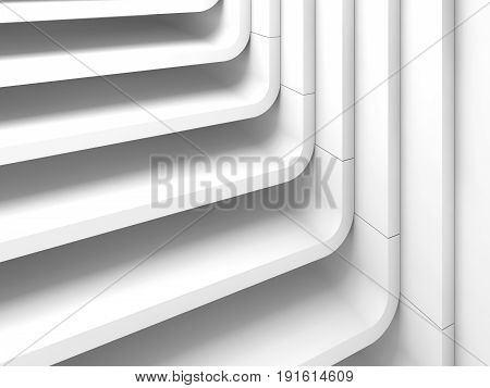 Curved Stairs. 3D Illustration Background