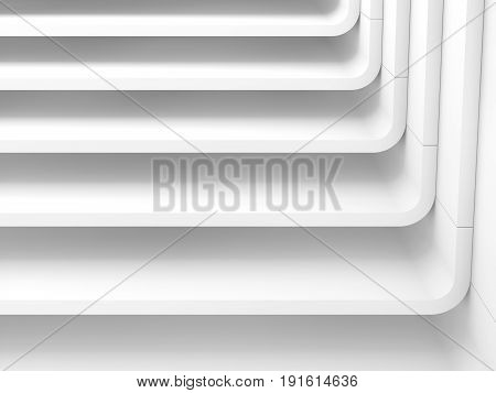 White Abstract Modern Architecture, Render