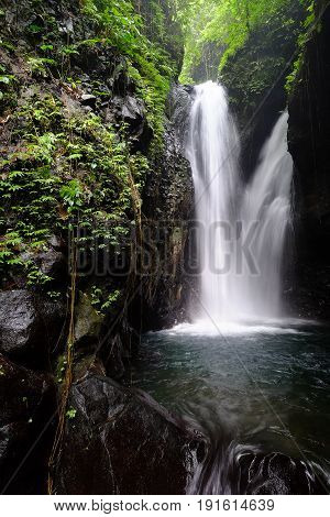 Git Git Waterfall it is one of places of interest of Bali, Indonesia
