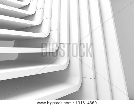 White Abstract 3D Architecture Background