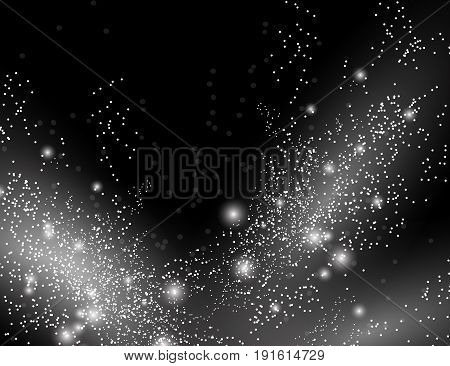 Abstract Sparkling Stars Holiday Background with space for your text.