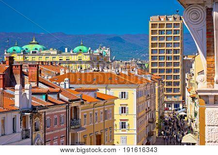 City Of Rijeka Main Korzo Square
