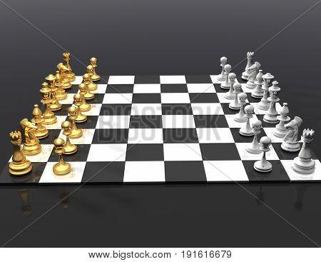 chess concept. winner concpet.  . 3d rendered illustration