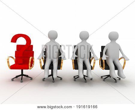 leader team concept . 3d rendered illustration