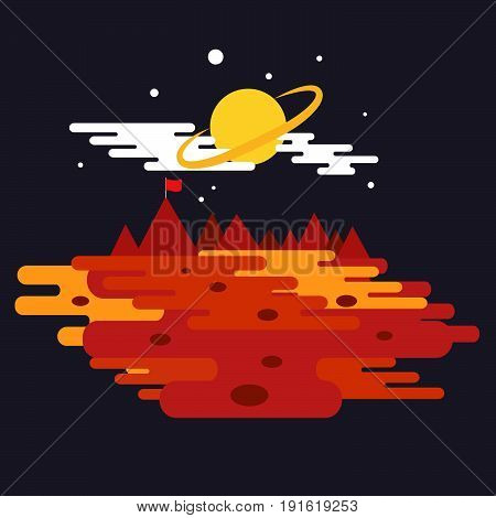 Conquest of space of the Mars. Space elements.