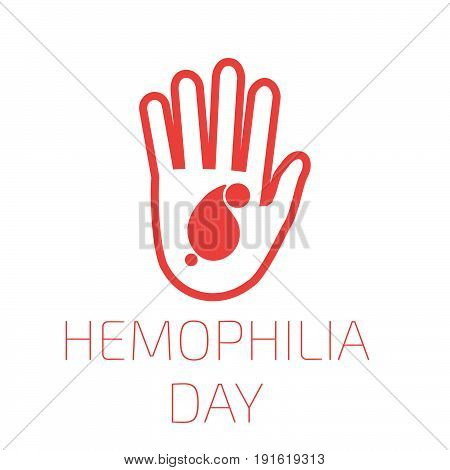 Hemophilia day, icon, world, medicine. Vector illustration