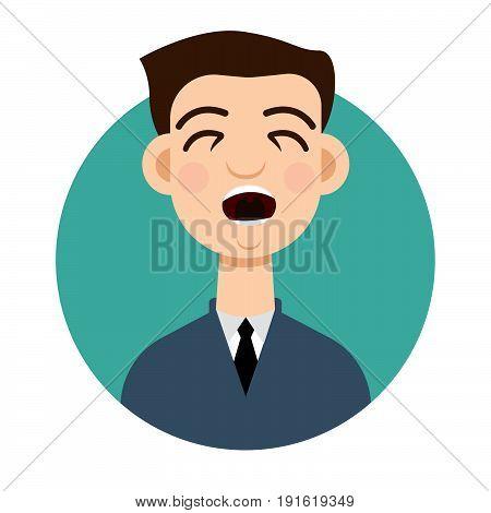 Cough icon. Cough man, sick. Vector illustration.