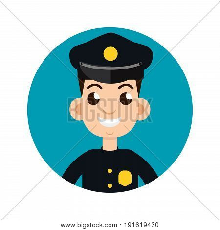 police officer icon, policeman, officer. Vector illustration