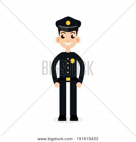 police oficer icon, policeman, man. Vector illustration