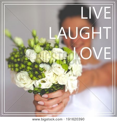 Words Live. Laught. Love. Wedding day photo