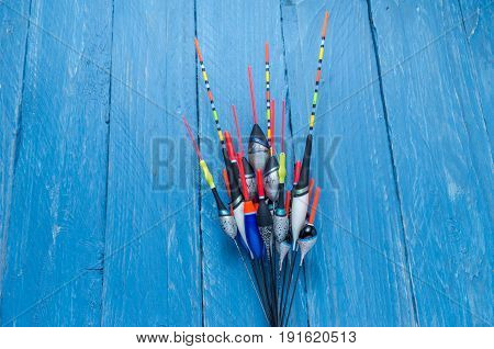 Variety Of Fishing Floats. Multicolored Floats.