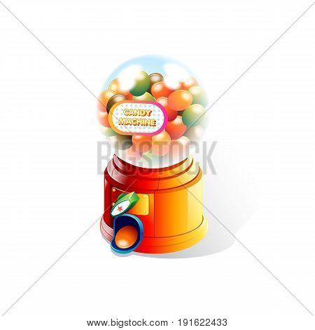 Candy Machine in White Background. Vector Illustration design
