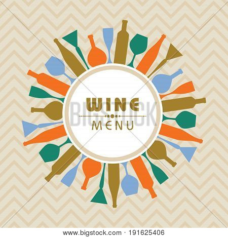 Illustration for wine shop menu stock vector