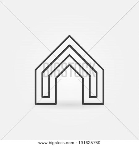 House concept icon - vector real estate concept logo or design element in thin line style