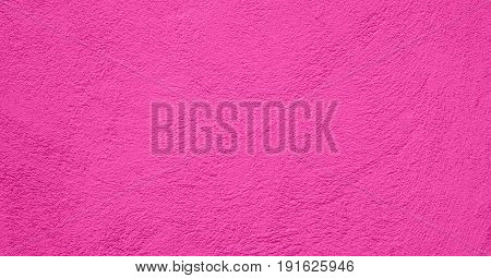 Abstract Art Decorative Magenta Background. Stucco Wall Texture With Copy Space. Wide Screen Wallpaper