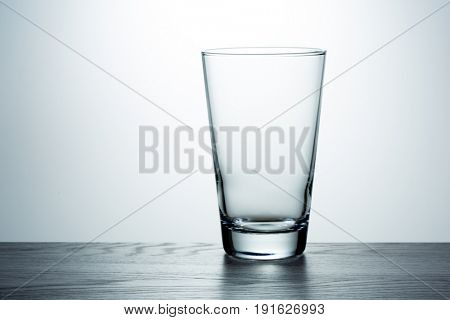 Empty glass on the table
