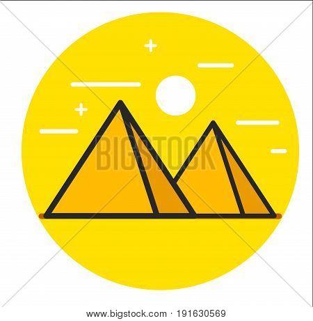 Pyramid icon. Illustration design graphic art rasterized